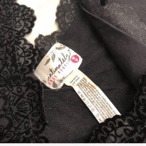 Free People Intimates & Sleepwear - Intimately Free People black scalloped bralette M